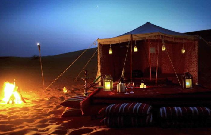 Camping in Dubai Desert , Desert camping